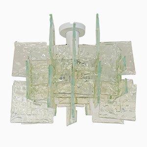 Lámpara de techo italiana de Carlo Nason para Mazzega, años 60