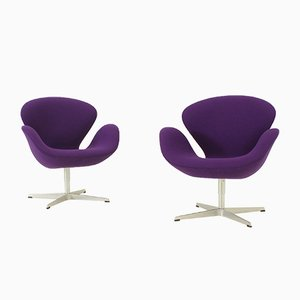 Lounge Chairs by Arne Jacobsen for Fritz Hansen, 1960s, Set of 2