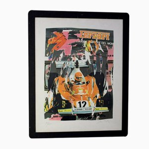 Ferrari Poster by Mimmo Rotella, 1970s