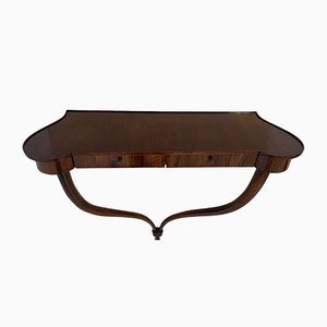 Art Deco Italian Walnut Console Table, 1930s