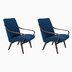 Lounge Chairs by Miroslav Navratil for Thonet, 1960s, Set of 2