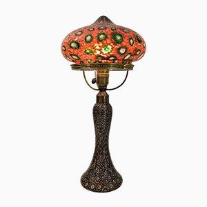Lampada da tavolo vintage in ottone e vetro di Fratelli Toso, Italia