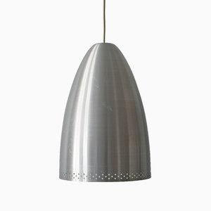 Large German Aluminium Pendant Lamp, 1970s