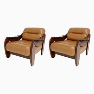 Mid-Century Italian Armchairs, 1970s, Set of 2