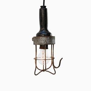 Vintage Industrial Black Ceiling Lamp, 1950s