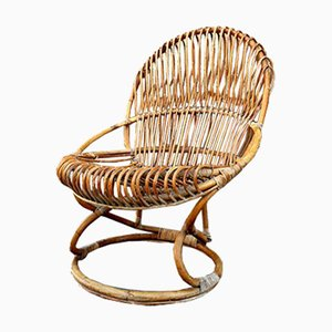 Italian Wicker Chair by Tito Agnoli, 1962