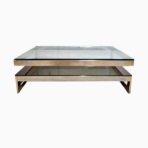 Gold Coffee Table from Belgo Chrom / Dewulf Selection, 1970s