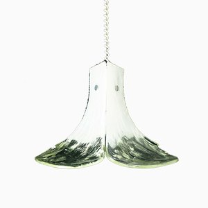 Mid-Century Ice Glass Pendant Lamp by J. T. Kalmar for Kalmar