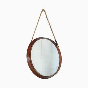 Schwedischer Spiegel mit Rahmen aus Teak & Seilaufhängung, 1961