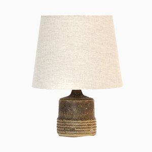 Kleine Tischlampe in Grau & Braun von Rolf Palm, 1960er