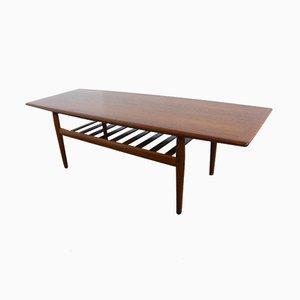Table Basse en Teck par Grete Jalk pour Glostrup, années 60