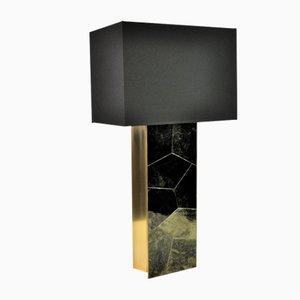 Tischlampe aus Stein & Messing von François-Xavier Turrou für Ginger Brown