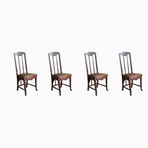 Esszimmerstühle im Jugendstil, 1920er, 4er Set