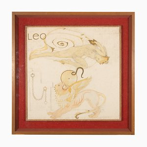 Peinture Leo par Maxwell Armfield pour Maxwell Armfield, années 70