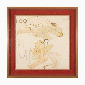 Pintura Leo de Maxwell Armfield para Maxwell Armfield, años 70