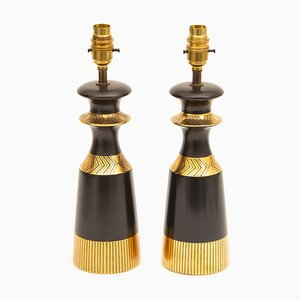 Table Lamps by Colin Melbourne for Crown Devon, 1950s, Set of 2