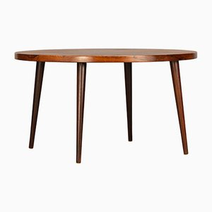 Round Danish Rosewood Coffee Table, 1960s