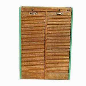 Mobiletto in legno di quercia, anni '60
