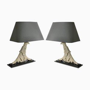 Lámparas de mesa vintage, años 20. Juego de 2