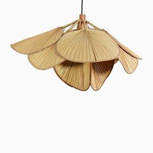 Deckenlampe aus Reispapier & Bambus von Ingo Maurer, 1970er