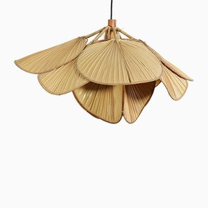 Rice Paper and Bamboo Ceiling Lamp from Ingo Maurer, 1970s