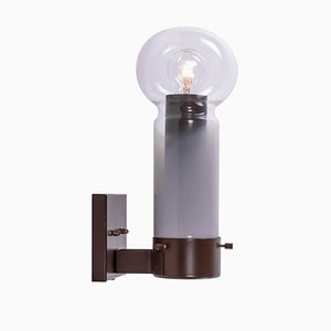 Glass and Metal Sconce by HIT from Raak, 1960s