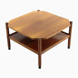 Table Basse Carrée en Teck, 1960s