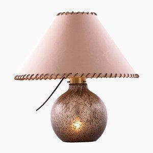 Lampada da tavolo in vetro ambrato a bolle di Peill & Putzler, anni '60