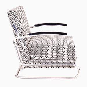 Tubular Chrome Armchair from Mücke Melder, 1930s