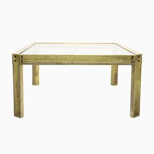 Brutalist Cast Brass Model T09 Embassy Coffee Table by Peter Ghyczy, 1970s