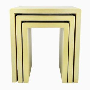 Tavolini ad incastro in pergamena di Ginger Brown, set di 3