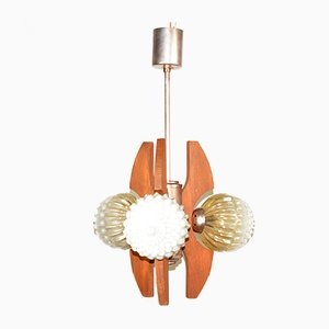 Hungarian Model HE-2380 Chandelier from Elektrofem Isz., 1960s