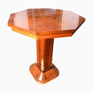 Antique Italian Mahogany Octagonal Coffee Table by Giambattista Gianotti