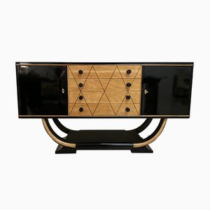 Italian Art Deco Maple Sideboard, 1940s