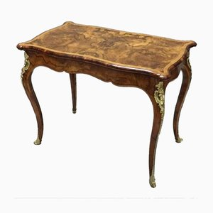 Antique Victorian Burr Walnut Side Table from Gillows