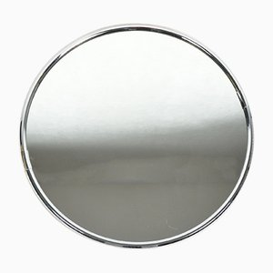 Round German Crystal Wall Mirror from Planilux, 1980s