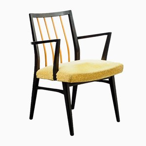Vintage Black and Yellow Armchair, 1950s