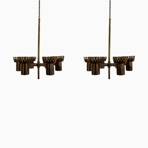 Ceiling Candle Lamp by Hans-Agne Jakobsson for Markaryd, 1950s, Set of 2