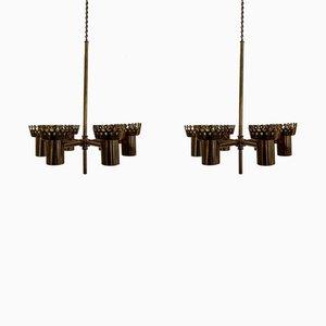 Deckenlampe von Hans-Agne Jakobsson für Markaryd, 1950er, 2er Set