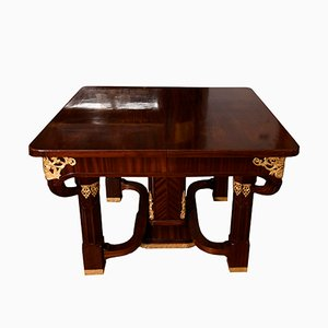 Antique Italian Mahogany Dining Table by Gianotti
