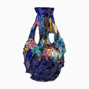 Bunte Vase von Vallauris, 1960er