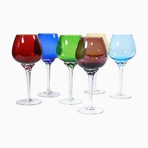 Bicchieri in vetro di Murano, anni '60, set di 6