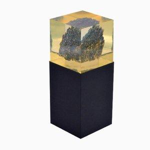 Lampada da tavolo vintage in minerale grezzo, anni '70