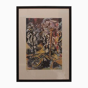 Litografía Farewell to Arms edición 90/250 de Guttuso Renato, años 40. Juego de 9
