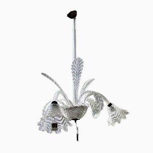 Kronleuchter aus Muranoglas, 1950er