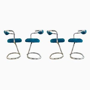 Cobra Chairs by Giotto Stoppino, 1970s, Set of 4