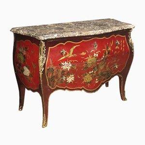 Cómoda francesa Luis XV chinoiserie lacada, años 60