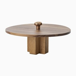 Constantin Centerpiece in Walnut and Bronze from Colé