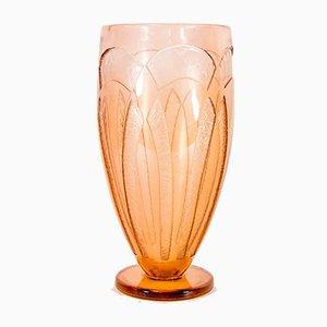 Cognacfarbene Vase von Charles Harder, 1930er