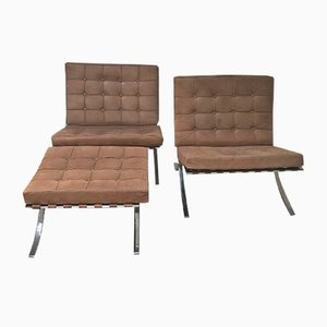 Vintage Barcelona Lounge Chairs by Ludwig Mies van der Rohe, Set of 2